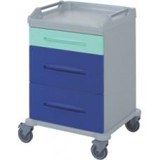 Тележка медицинская с 3 ящиками 16-FT640