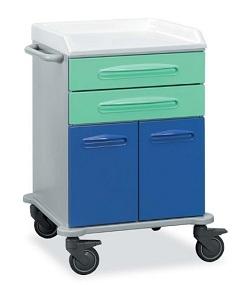 Медицинская тележка с 2  ящиками с 2 дверцами 16-FT650