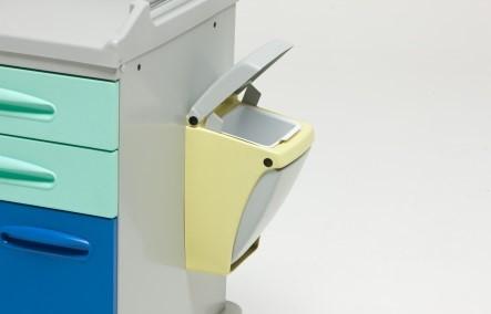 Емкость для отходов из abs-пластика, открывается нажатием колена 16-FP532 Вариант 1