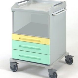Многофункциональная медицинская тележка для лотков и корзин 16-FP605