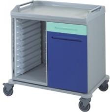 Медицинская тележка для лотков и корзин 16-FT960