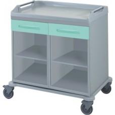 Медицинская тележка для различных отделений с лотками и корзинами 16-FT980