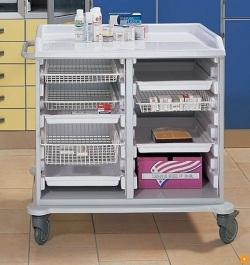 Медицинская тележка для лекарств и медикаментов 16-FT990