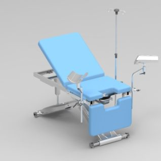 Смотровое гинекологическое кресло с изменяемой высотой гидравлика