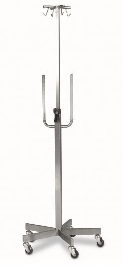 Передвижная инфузионная стойка с 4 крючками из нержавеющей стали с держателями для насосов 21-FP534 (Вариант 3)