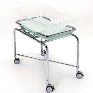 Медицинская кровать для новорожденных на хромированной тележке 19-FP650 (Вариант 3)