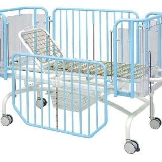 Медицинская кровать детская 2-х секционная с изменяемой высотой ложа (механика) 19-FP654 (Вариант 2)