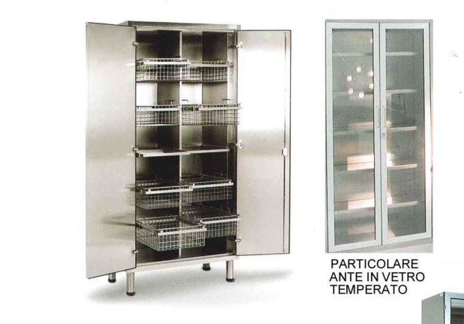 Медицинский шкаф из нержавеющей стали для хранения стерильного материала 13-FP271 (Вариант 5)