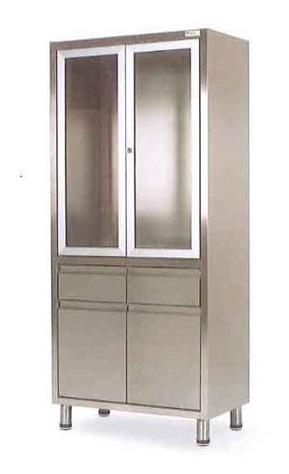 Медицинский шкаф из нержавеющей стали с 2 ящиками 13-FP271 (Вариант 3)