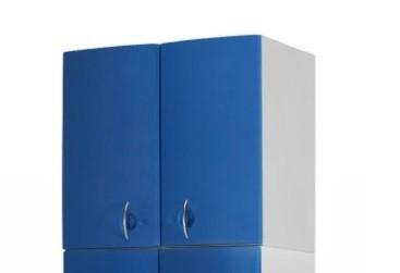 Медицинский шкаф-антресоль с 2 дверцами из технополимеров 13-CT195 (Вариант 1)