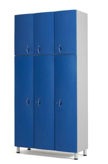Медицинский шкаф-антресоль с 3 дверцами из технополимеров 13-CT196 (Вариант 1)