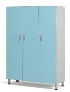 Медицинский шкаф палатный с 3-мя отделениями из биламината 13-FP183 (Вариант 1)