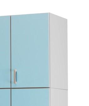 Медицинский шкаф-антресоль с 1 дверцей из биламината 13-FP184 (Вариант 1)