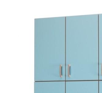 Медицинский шкаф-антресоль с 2 дверцами с 1 полкой фасады из биламината 13-FP185 (Вариант 1)