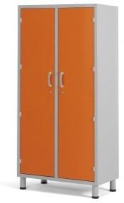 Медицинский палатный шкаф с 2-мя отделениями из окрашенной стали 13-CP202 (Вариант 1)