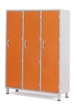 Медицинский палатный шкаф с 3-мя отделениями из окрашенной стали 13-CP203 (Вариант 1)