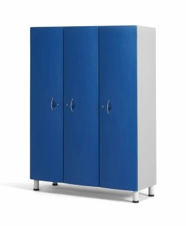 Медицинский шкаф палатный с 3-мя отделениями из технополимеров 13-CT193 (Вариант 1)