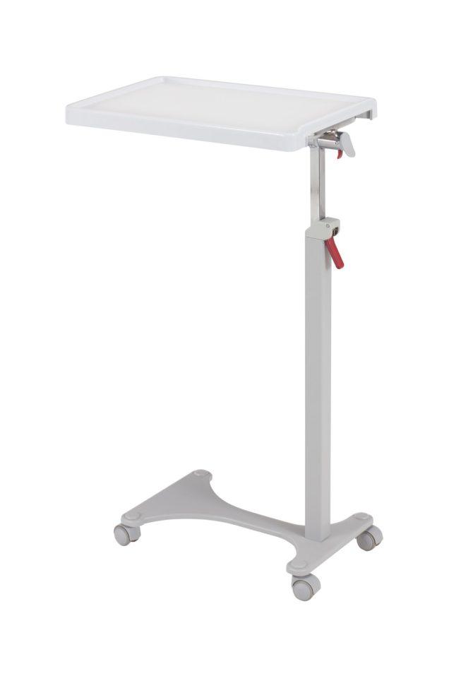 Прикроватный медицинский независимый столик с изменяемой высотой (механический) 12-CD310 (Вариант 3)