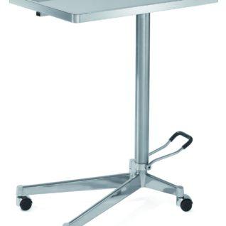 Медицинский инструментальный столик на колесах с гидравлическим изменением высоты на 5 ножках 16-FP442 (Вариант 3)
