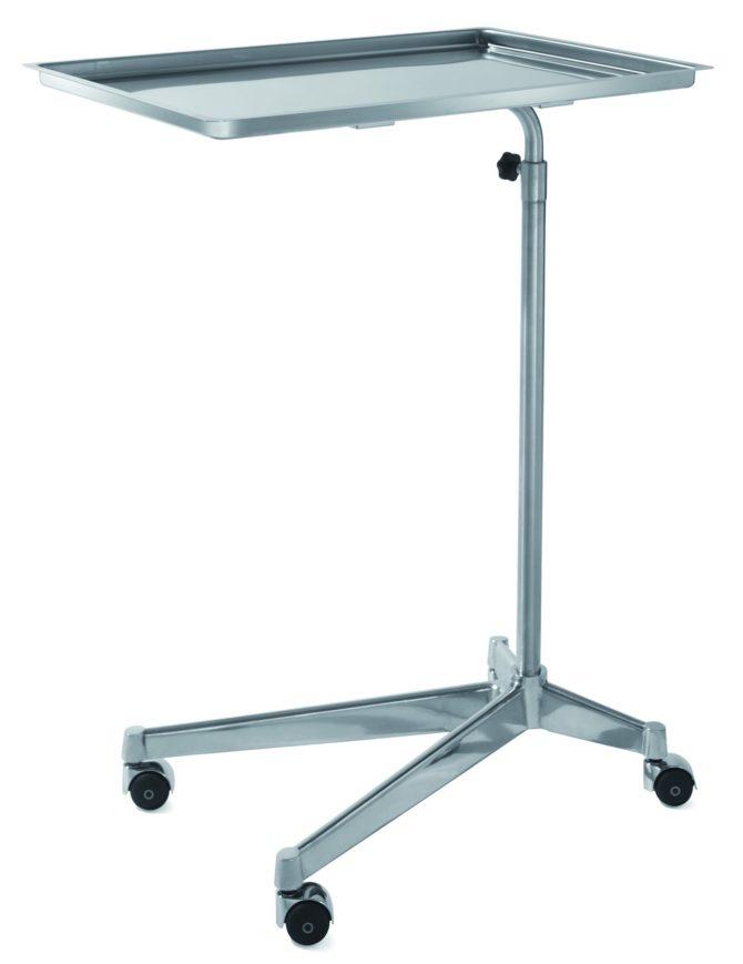 """Медицинский инструментальный столик на колесах """"ГУСЬ"""" с механическим изменением высоты 16-FP441"""