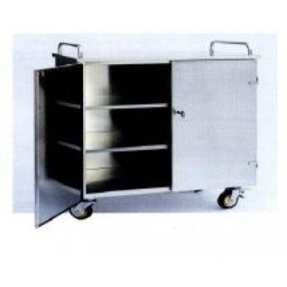 Медицинская тележка для контейнеров из нержавеющей стали на 9 модулей 16-SO910