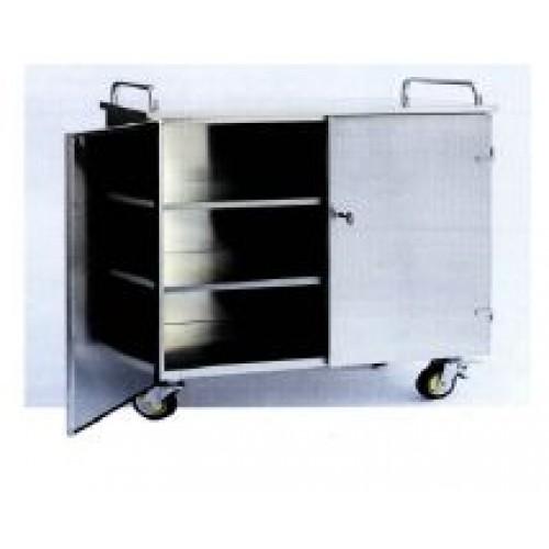 Медицинская тележка для контейнеров из нержавеющей стали на 6 модулей 16-SO915