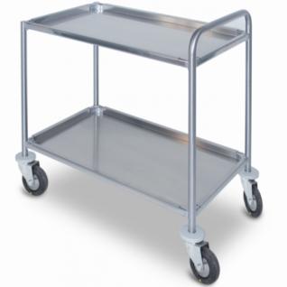 Медицинский инструментальный стол – тележка из нержавеющей стали с 2-мя съемными полками 16-FP470 Вариант 1