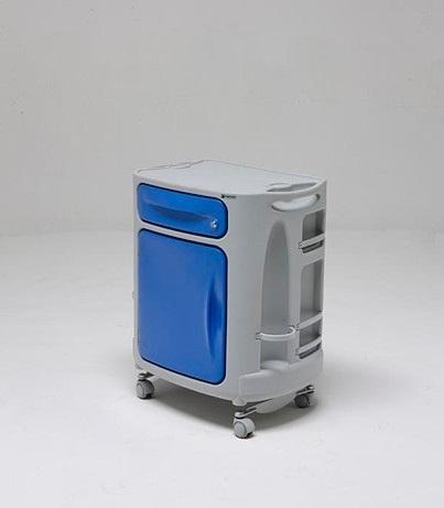 Медицинская тумбочка односторонняя с реверсивной дверцей 14-CP250 (Вариант 3)
