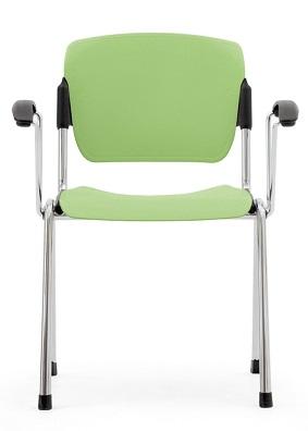 Медицинский стул фиксированный из полипропилена с подлокотниками 17-PT265