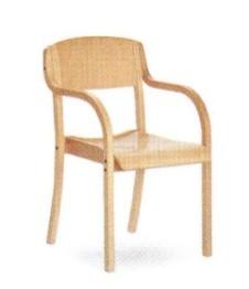 Медицинское кресло деревянное (бук) с подлокотниками для физиотерапии E23-ESBL - 17-LM693