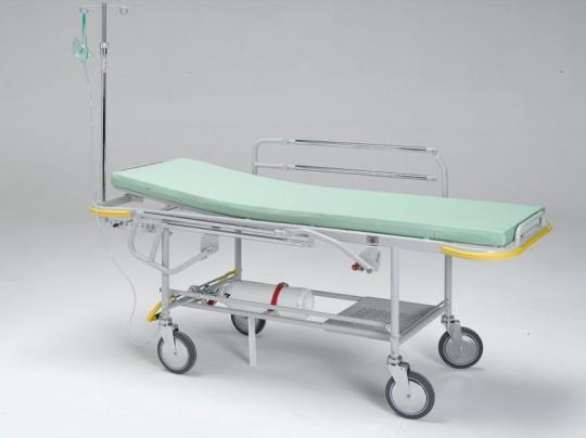 Медицинская каталка с фиксированной высотой в комплекте с боковыми ограждениями 20-FP650