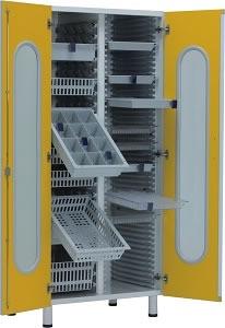 Медицинский шкаф для медикаментов с выдвижными лотками 13-FP244 (Вариант 2)