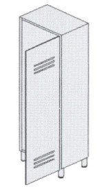 Шкаф-раздевалка из окрашенной стали 1-местный 13-FP181 (Вариант 3)