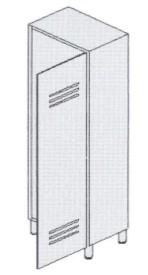 Шкаф-раздевалка 1-местный с отделениями для чистого и грязного белья 13-FP181 (Вариант 4)