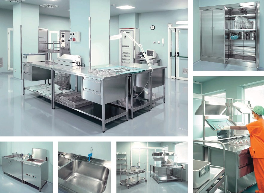 Медицинская мебель из нержавеющей стали Vernipoll